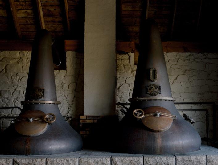 Alambics pot stills Celtic Whisky Distillerie